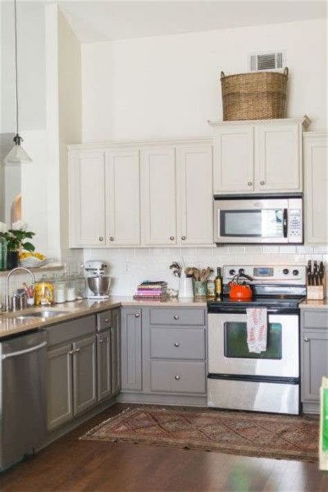 17 best ideas about two toned cabinets on two 570 2cb4bff0c59796824c2477a559262a0c