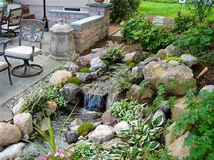 Landscape Design (Ideas) W/Patio & Water Feature in