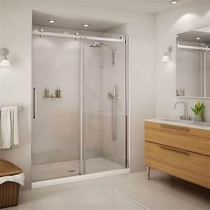 porte de douche coulissante halo 59 po chrome douches With porte de douche coulissante avec enduit spécial salle de bain