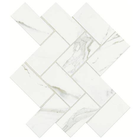 Herringbone Backsplash Tile Home Depot by Marazzi Developed By Nature Calacatta 12 In X 14 In X 6