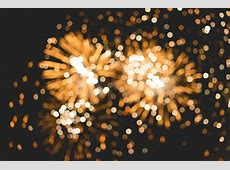 Bokeh Classy Golden Fireworks Lights Background Free Photo