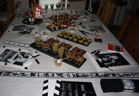 deco cinema pour anniversaire buffet anniversaire th 232 me cin 233 ma quelques recettes verre aux papilles