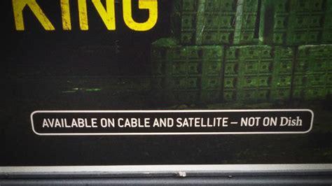amc cable network takes shots  satellite provider dish
