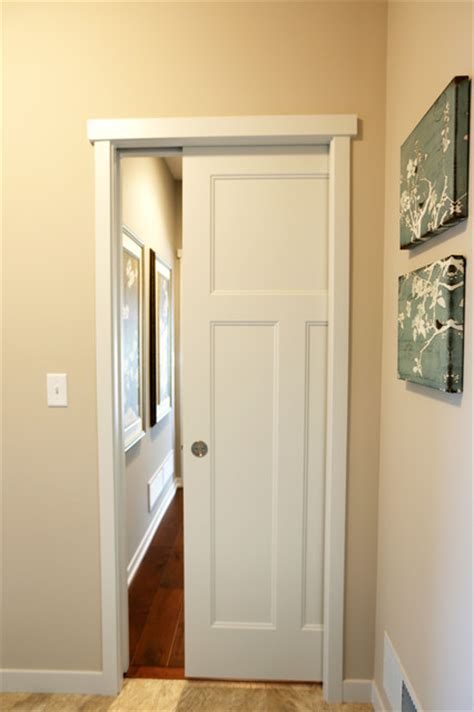 pocket barn doors craftsman hall  metro