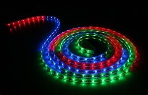 Waterproof color chasing led light strips with multi
