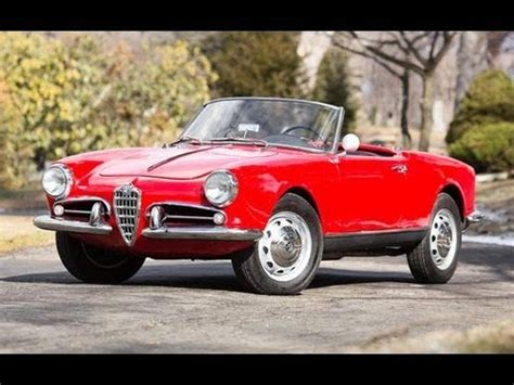 1957 Alfa Romeo Giulietta Spider Youtube