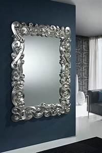 Miroir Baroque Argenté : miroir baroque silver miroirs de d coration murale pinterest baroque d co et recherche ~ Teatrodelosmanantiales.com Idées de Décoration