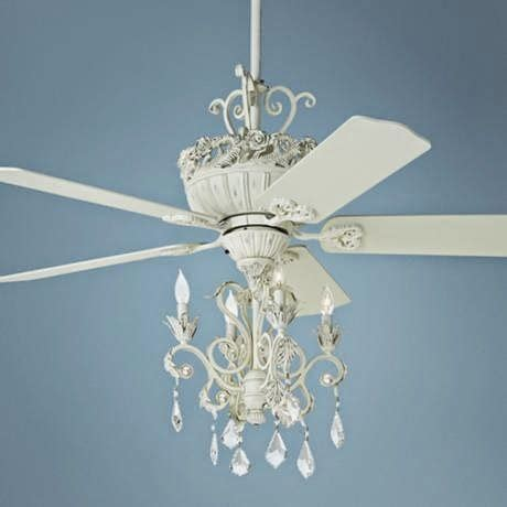 Diy Shabby Chic Ceiling Fan by Laven Interiors Fandelier Lighting Things