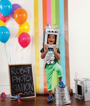 hosting  cool robot themed birthday party