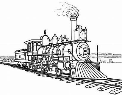 Train Steam Coloring Awesome Netart