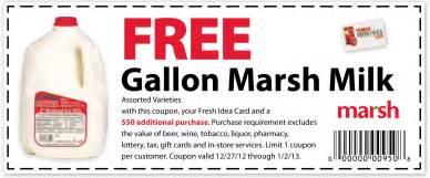 marsh free gallon of milk printable coupon print coupon king