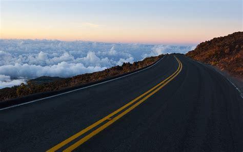 mar de nubes  por carretera fondos de pantalla mar de