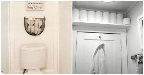nifty ways  store toilet paper