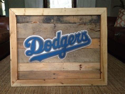 la dodgers sign  reclaimed wood hand jigged wood