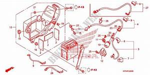 Wire Harness  Battery For Honda Crf 230 F 2007   Honda