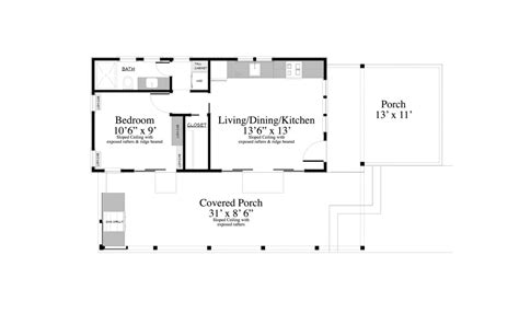 modern ranch floor plans contemporary style house plan 1 beds 1 00 baths 399 sq