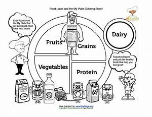 My Plate Food Groups and the Food Label Coloring Sheet