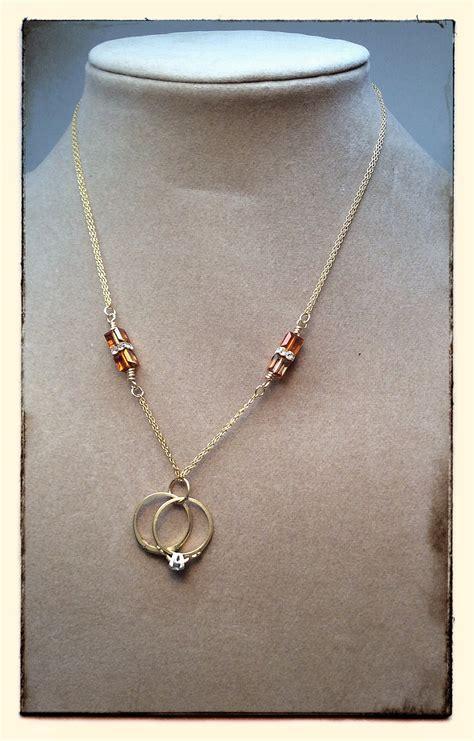 heirloom wedding rings necklace jewelry journal