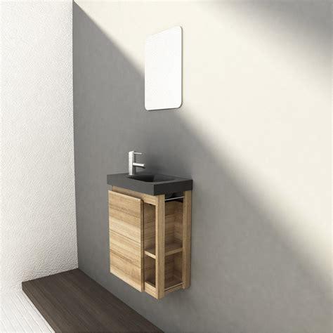 meuble cuisine en palette meuble lave mains avec miroir frêne naturel l 22 5 x p