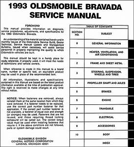 1993 Oldsmobile Bravada Repair Shop Manual Original