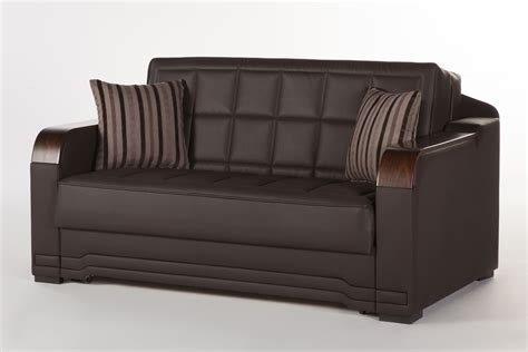 love seat sleeper sofas willow dark brown loveseat sleeper by sunset