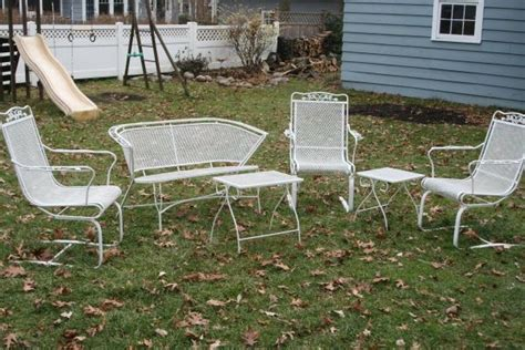 vintage wrought iron patio furniture yard