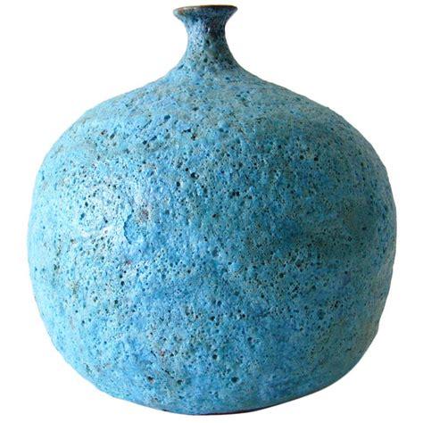 beatrice wood foamy blue lava vase at 1stdibs