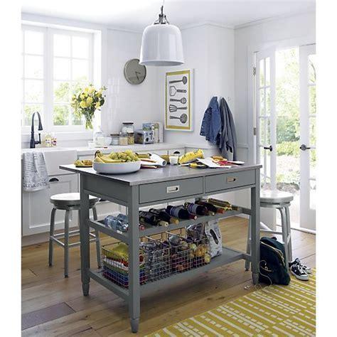 Sheridan Grey Kitchen Island   Crate and Barrel   Kitchens