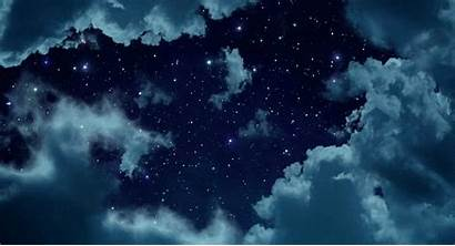Sky Starry Night Gifs Anime Backgrounds Animated