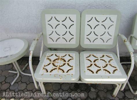 metal patio furniture makeover a restoration hardware
