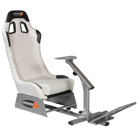 siege volant ps4 playseats evo siège simulation automobile blanc base