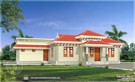 Home Design 4 Floor : 4 Bedroom Traditional Kerala Style Home
