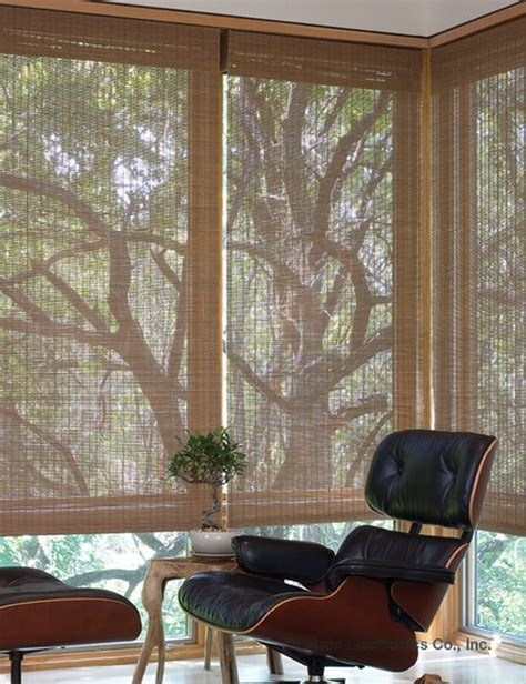 examples  motorized natural fiber shades midcentury