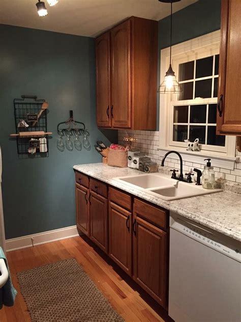 painted kitchen cabinets images kitchen remodel lowes valspar la fonda blue ouro romano 3986