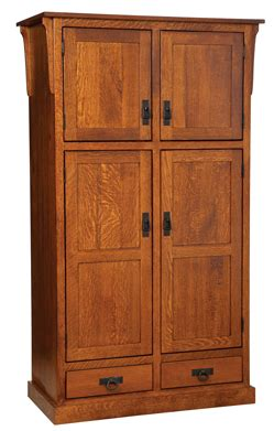 mission  door pantry  drawer cabinet amish