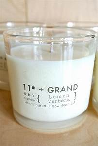 8 oz soy candle lemon verbena by eleventhandgrand on etsy With diy labels for candles