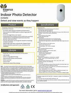 Essence Security Es700ipd Indoor Photo Detector User