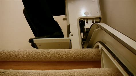stair lift chair up hd stair lift chair going in