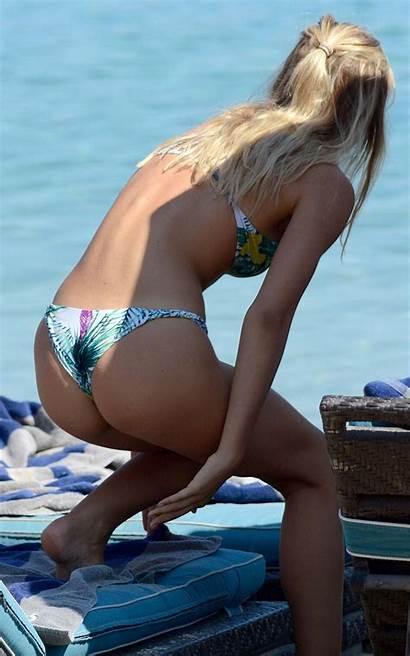 Bikini Alexis Ren Greece Candids Celebrity Beach