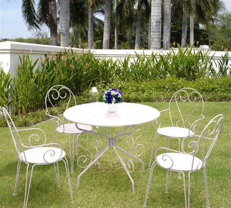 salon de jardin metallique salon de jardin m 233 tal style fermob 1 table 95cm 4 fauteuils oogarden
