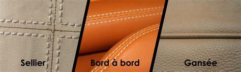 couture canapé cuir l de la couture sur le cuir d ameublement mon expert