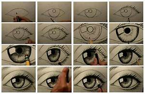 How to draw a realistic eye (basic steps).   Sous les ...