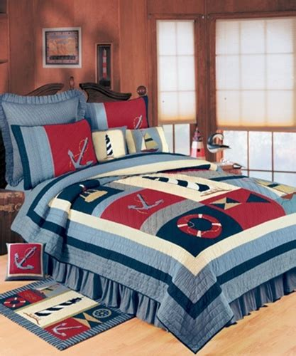 atlantic isle handcrafted quilt lighthouse boats anchor