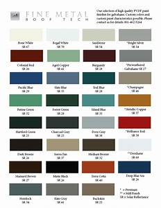 Color Chart For Galvalume Fine Metal Roof Tech
