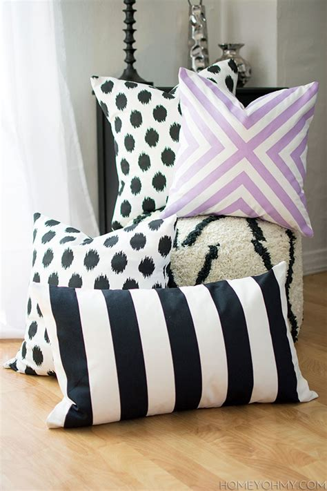 how to sew pillow covers diy no sew pillow covers homey oh my