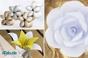 Papierblumen Basteln Anleitung : papierblumen selber basteln 5 ideen ~ Orissabook.com Haus und Dekorationen