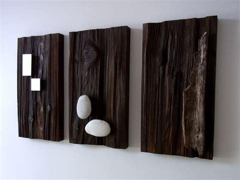 holz deko wand wand deko holzbilder mit aufgesetztem eisen holz stein ein designerst 252 ck bk s kleine