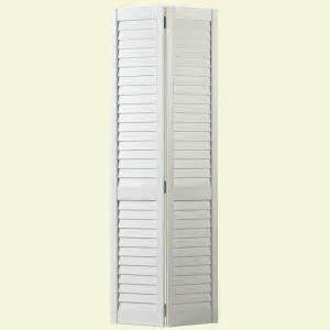 louvered interior doors home depot masonite 30 in x 80 in plantation louver painted white hollow pine bi fold door