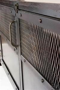 Custom Industrial Chic Media Cabinet / Steel 2 Door – Real
