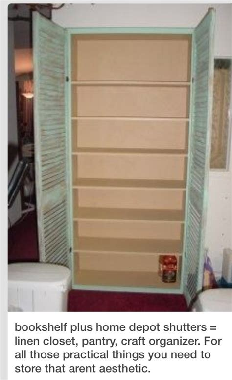 diy pantry cabinet diy pantry storage cabinet using a book shelf and shutters